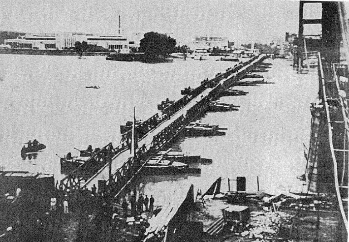 pontoon bridge zemun 1941, מהרשת